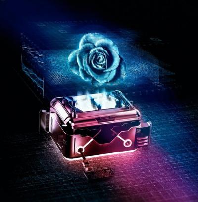 Осколки голографической розы